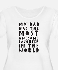 AWESOME DAUGHTER Plus Size T-Shirt