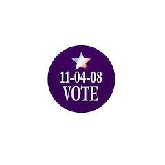 11-4-08: VOTE Mini 1 inch Button