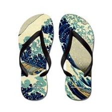 The Great Wave off Kanagawa Flip Flops