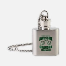 AWESOME GRANDPA Flask Necklace