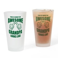 AWESOME GRANDPA Drinking Glass