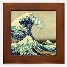The Great Wave off Kanagawa Framed Tile
