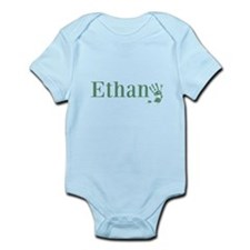 Green Ethan Name Body Suit