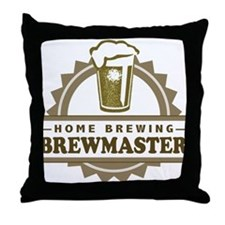 Brewmaster Home Beer Brewer Throw Pillow