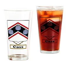 Cass Family Crest Drinking Glass