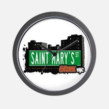 Saint Mary's St, Bronx, NYC  Wall Clock