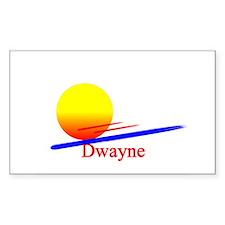 Dwayne Rectangle Decal