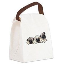 Pocket Pugs Canvas Lunch Bag
