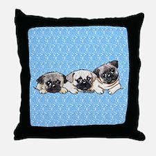 Pocket Pugs Throw Pillow