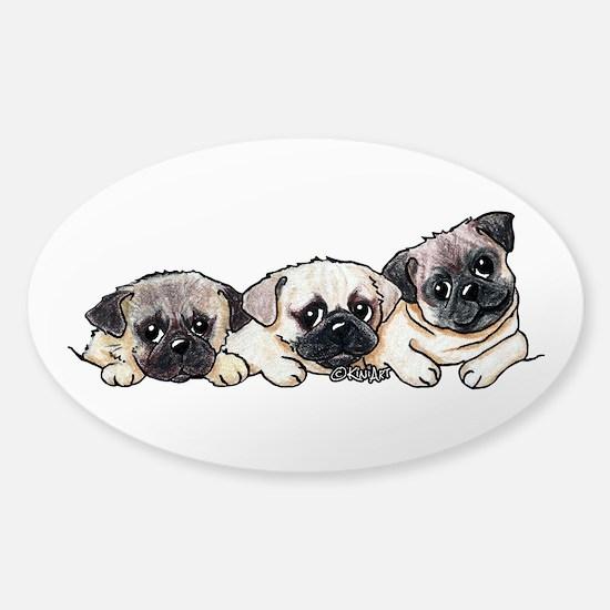 Pocket Pugs Sticker (Oval)