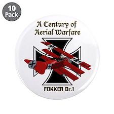 """Fokker Dr.1 3.5"""" Button (10 pack)"""