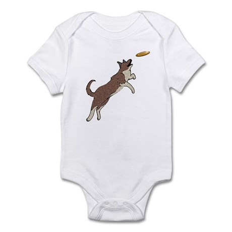 Flying Disc Dog Infant Bodysuit