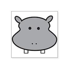 Hippo Head Sticker