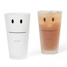 Serious Smiley Drinking Glass