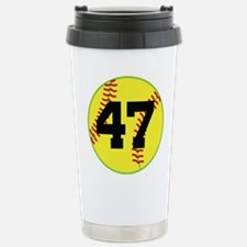 Softball Sports Player Number 47 Stainless Steel T