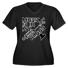 Music Is In My Blood Plus Size T-Shirt