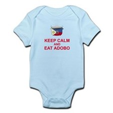 Keep Calm and Eat Adobo Infant Bodysuit