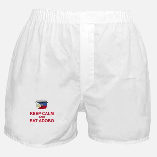 Keep Calm and Eat Adobo Boxer Shorts