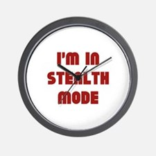 I'm In Stealth Mode Wall Clock