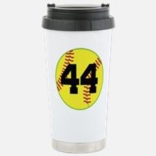 Softball Sports Player Number 44 Stainless Steel T