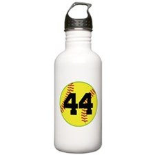 Softball Sports Player Number 44 Water Bottle