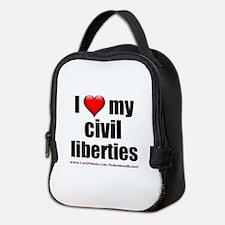 """Love My Civil Liberties"" Neoprene Lunch Bag"