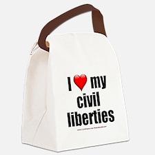 """Love My Civil Liberties"" Canvas Lunch Bag"