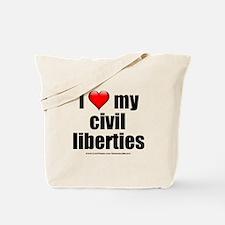 """""""Love My Civil Liberties"""" Tote Bag"""