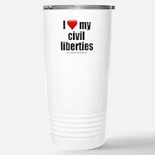 """Love My Civil Liberties"" Stainless Steel Travel M"
