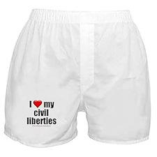 """Love My Civil Liberties"" Boxer Shorts"