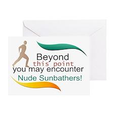 Nude Sun Bathers  Greeting Card