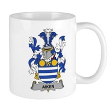 Aiken Family Crest Mugs