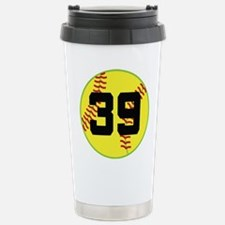 Softball Sports Player Number 39 Stainless Steel T