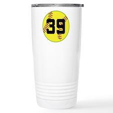 Softball Sports Player Number 39 Travel Mug