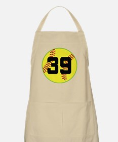 Softball Sports Player Number 39 Apron