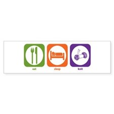 Eat Sleep Knit Bumper Bumper Sticker