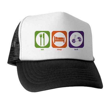 Eat Sleep Knit Trucker Hat