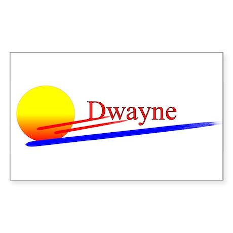 Dwayne Rectangle Sticker