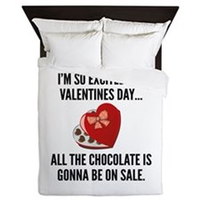 I'm So Excited For Valentine's Day... Queen Duvet