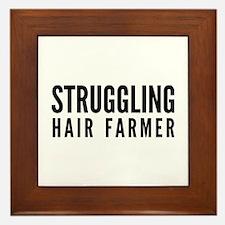 Struggling Hair Farmer Framed Tile