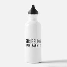 Struggling Hair Farmer Water Bottle
