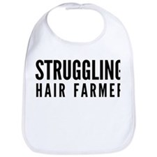 Struggling Hair Farmer Bib