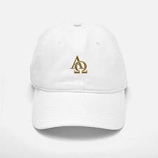 """""""3-D"""" Golden Alpha and Omega Symbol Hat"""