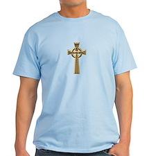 """""""3-D"""" Golden Celtic Cross T-Shirt"""