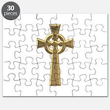 """""""3-D"""" Golden Celtic Cross Puzzle"""