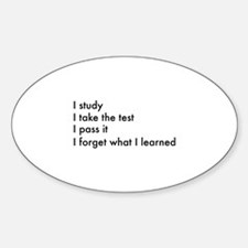 I Forget What I Learned Decal