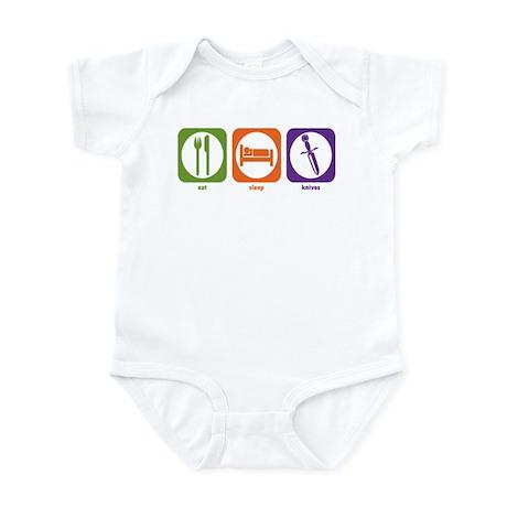 Eat Sleep Knives Infant Bodysuit