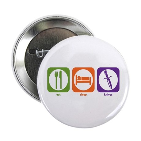"""Eat Sleep Knives 2.25"""" Button (100 pack)"""