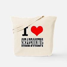 I Heart (Love) Scrapbooking Tote Bag