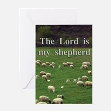 The Lord Is My Shepherd - Design 4 Greeting Cards